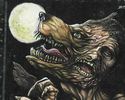 Magic the Gathering Homelands Card: Greater Werewolf