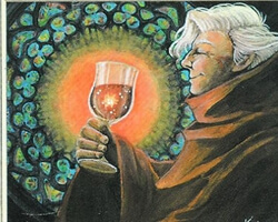 Magic the Gathering Ice Age Card: Blessed Wine
