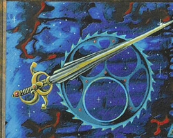 Magic the Gathering Ice Age Card: Celestial Sword