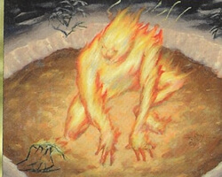 Magic the Gathering Ice Age Card: Ghostly Flame