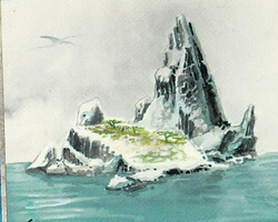 Magic the Gathering Ice Age Card: Island (a)