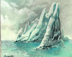 Magic the Gathering Ice Age Card: Island (b)