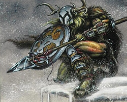 Magic the Gathering Ice Age Card: Kjeldoran Knight