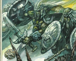 Magic the Gathering Ice Age Card: Kjeldoran Phalanx