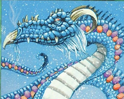 Magic the Gathering Ice Age Card: Scaled Wurm