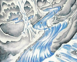 Magic the Gathering Ice Age Card: Underground River