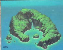 Magic the Gathering Invasion Card: Island (b)