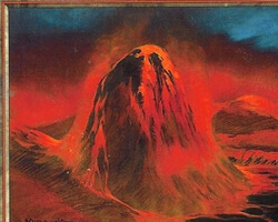 Magic the Gathering Invasion Card: Mountain (c)