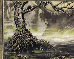 Magic the Gathering Invasion Card: Swamp (a)