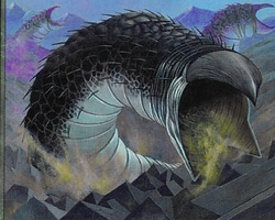 Magic the Gathering Invasion Card: Trench Wurm