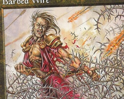 Magic the Gathering Mercadian Masques Card: Barbed Wire