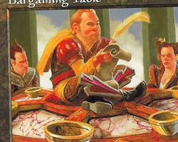 Magic the Gathering Mercadian Masques Card: Bargaining Table