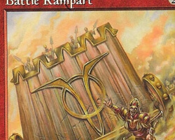 Magic the Gathering Mercadian Masques Card: Battle Rampart