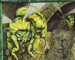 Magic the Gathering Mercadian Masques Card: Caustic Wasps