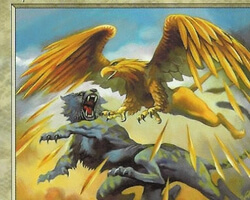 Magic the Gathering Mercadian Masques Card: Charmed Griffin