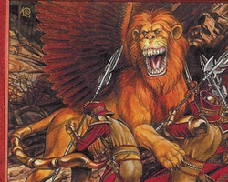 Magic the Gathering Mercadian Masques Card: Flailing Manticore