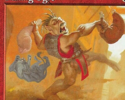 Magic the Gathering Mercadian Masques Card: Flailing Ogre