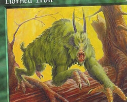 Magic the Gathering Mercadian Masques Card: Horned Troll