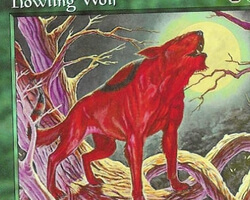 Magic the Gathering Mercadian Masques Card: Howling Wolf