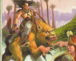 Magic the Gathering Mercadian Masques Card: Jhovall Rider