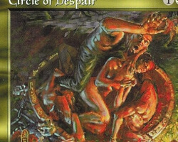 Magic the Gathering Mirage Card: Circle of Despair
