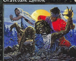 Magic the Gathering Mirage Card: Gravebane Zombie