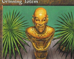 Magic the Gathering Mirage Card: Grinning Totem