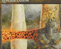 Magic the Gathering Mirage Card: Igneous Golem