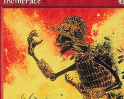Magic the Gathering Mirage Card: Incinerate