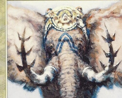 Magic the Gathering Mirage Card: Iron Tusk Elephant