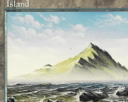 Magic the Gathering Mirage Card: Island (a)