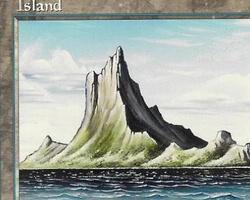 Magic the Gathering Mirage Card: Island (b)