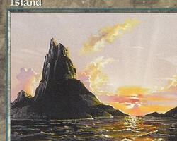 Magic the Gathering Mirage Card: Island (d)