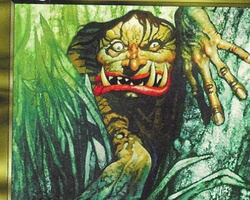 Magic the Gathering Mirage Card: Jungle Troll