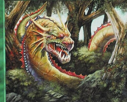 Magic the Gathering Mirage Card: Jungle Wurm