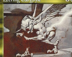 Magic the Gathering Mirage Card: Leering Gargoyle
