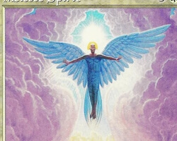 Magic the Gathering Mirage Card: Melesse Spirit
