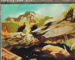 Magic the Gathering Mirage Card: Rocky Tar Pit