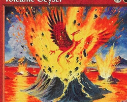 Magic the Gathering Mirage Card: Volcanic Geyser