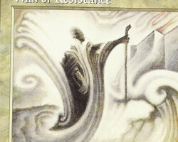 Magic the Gathering Mirage Card: Wall of Resistance