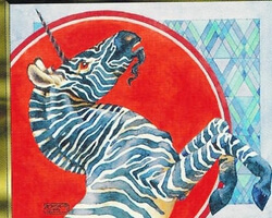 Magic the Gathering Mirage Card: Zebra Unicorn
