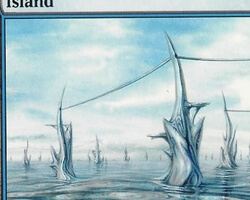Magic the Gathering Mirrodin Card: Island (b)