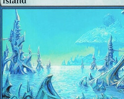 Magic the Gathering Mirrodin Card: Island (c)
