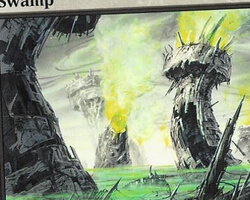 Magic the Gathering Mirrodin Card: Swamp (a)