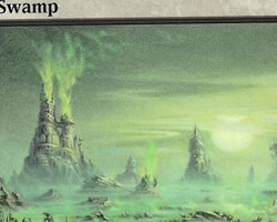 Magic the Gathering Mirrodin Card: Swamp (b)
