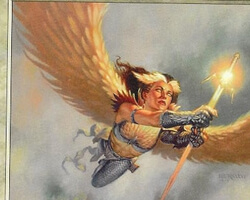 Magic the Gathering Nemesis Card: Blinding Angel
