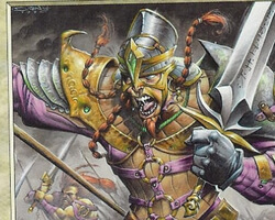 Magic the Gathering Nemesis Card: Chieftain en-Dal