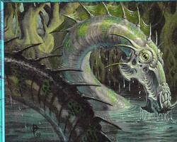 Magic the Gathering Nemesis Card: Sliptide Serpent