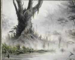 Magic the Gathering Odyssey Card: Swamp (d)