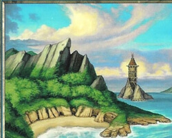 Magic the Gathering Onslaught Card: Island (c)